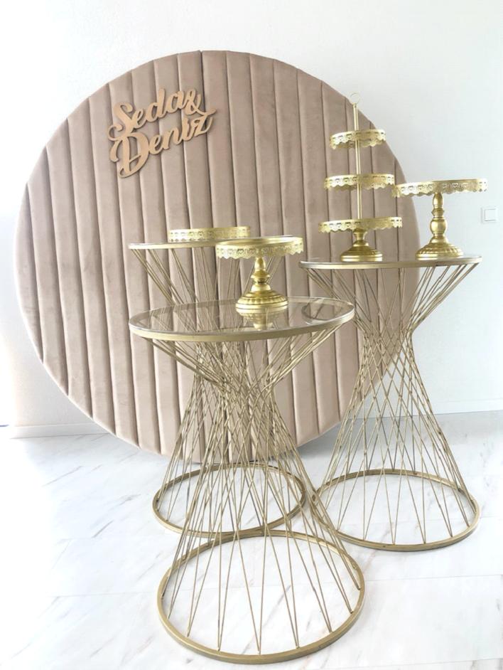 Gouden pilaren – set van 3 stuks