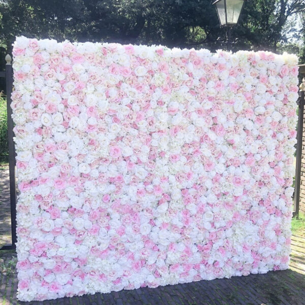 Pink crush flower wall