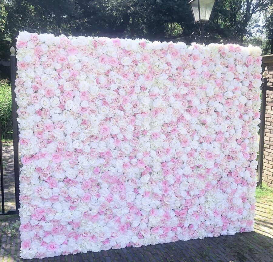 Pink crush flower wall