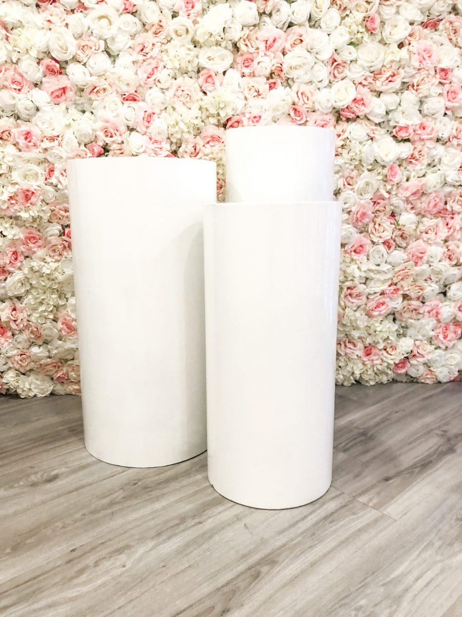 Witte pilaren - set van 3 stuks