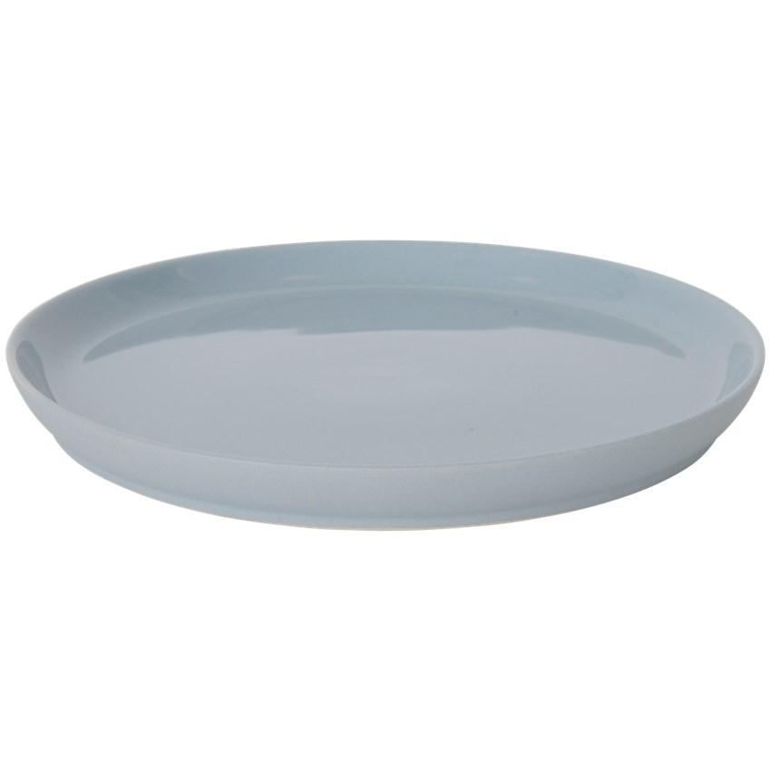 Blauwe high-tea bord